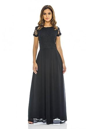AX Paris Womens 2 in 1 Crochet Top Maxi Dress(Black, ...