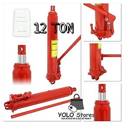 Lift Jack Engine Hoist Cherry Picker 12 Ton Hydraulic Ram Shop Crane Heavy Duty Manual Tool By YOLO Stores