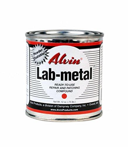 Alvin 12 oz Lab Metal Durable Economical Repair Putty, Dent Filler & Patching Compound Epoxy