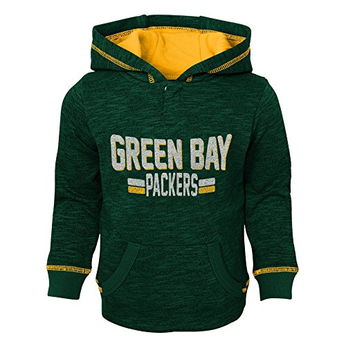 NFL Green Bay Packers Kids & Youth Boys Tiny Linemen Slub Fleece Hoodie, Hunter Green, Youth Large(14-16)