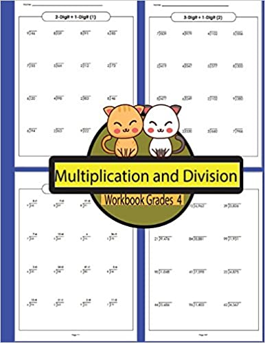Multiplication and Division Workbook Grades 4 Volume 4
