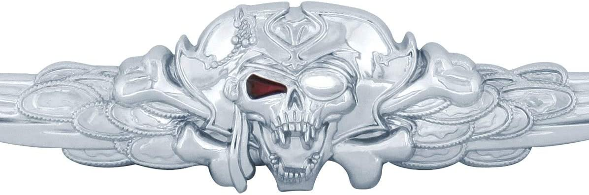 United Pacific 50030 Chrome Pirate License Frame