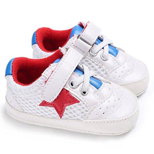 Huhu833 Kinder Mode Baby Schuhe Weiche Sohle Schuhe Frühling Herbst Babyschuhe Kleinkind Schuhe Rot