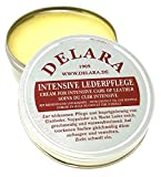 DELARA Intensive leather care – colourless, 75 ml – Impregnates and protects leather very effectively, new formula coconut oil and beeswax