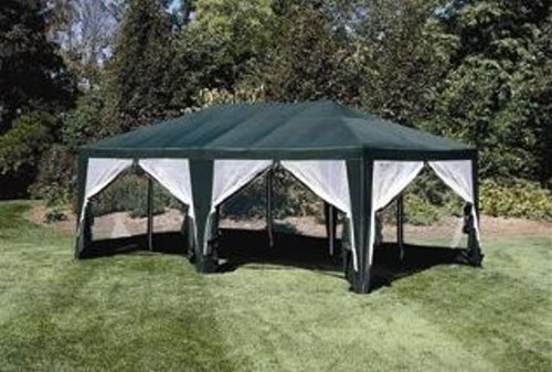 Sun Mart Deluxe Screen House Party Tent 15x12ft Green