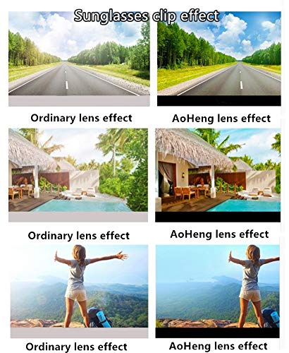 Blue Light Blocking [Rimless Frame] Computer Glasses Clip on Glasses, Anti UV Eye Strain Clear Lens Reading Video Eyewear by AoHeng (Image #5)