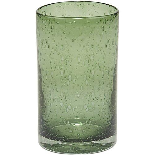 Bubble Glass Clear (Artland 50957B Iris Hiball Glass, Set Of 4 17 oz Sage)