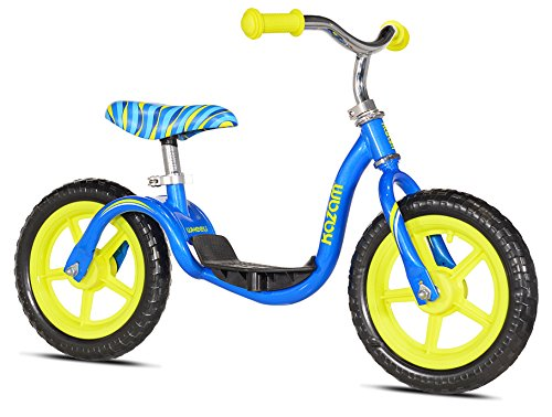 KaZAM v2e No Pedal Balance Bike, Blue/Yellow