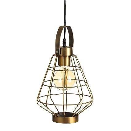 Lámpara de Techo de Metal Dorada para salón y Comedor ...