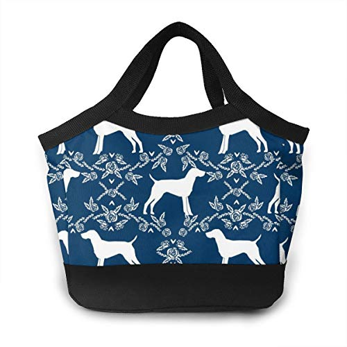 NOWDIDA Lunch Bag Insulated Lunch Box Tote Bag Lunch Organizer Lunch Holder for Women/Men/Beach/Party/Boating/Office/Fishing/Picnic(German Shorthair Pointer Dog)
