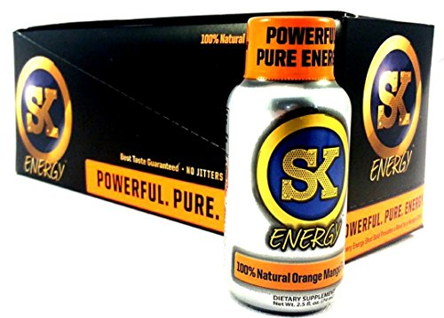Street King SK 6 Hours of Energy Drink Shots Orange Mango 12 Pack