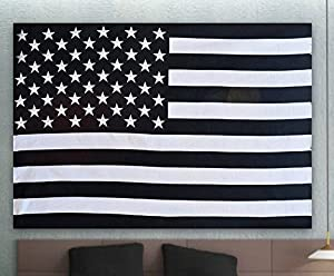 American Flag Intricate tie dye Design Indian Bedspread Magical Thinking Tapestry 54x84 Inches,(140x210cms) Black & White By Fashion-us