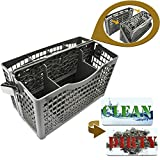 Dishwasher Silverware Basket Universal - Clean Dirty Magnet Sign - Utensil/Cutlery Holder Replacement - Fits Bosch, Maytag, Kenmore, Whirlpool, KitchenAid, LG, Samsung, Frigidaire, GE