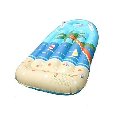 Anyer Espesar Niño Inflable Fila Flotante Tabla De Surf Bote Inflable Kickboard Pistas De Agua Piscina