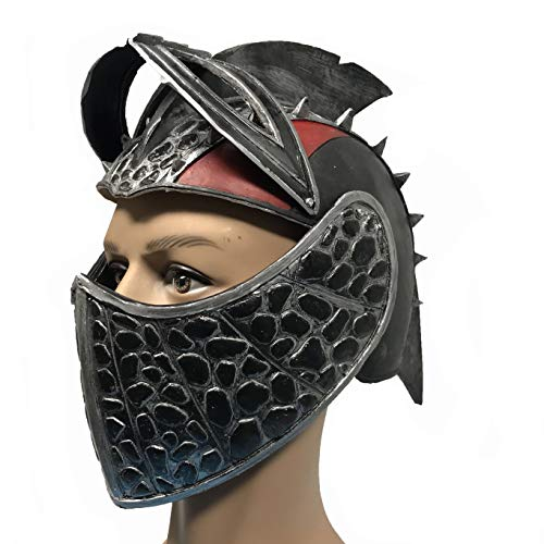 How to Train Your Dragon 3 Toothless Hiccup Helmet Black and Red Cosplay Mask Hard Latex]()