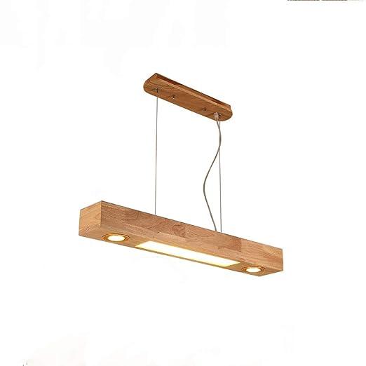 ZMH LED luz colgante madera rústica mesa de comedor lámpara colgante comedor lámpara colgante lámpara colgante con puntos incorporados para cocina ...