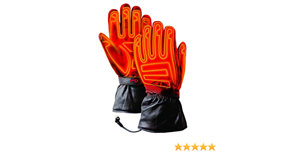 Black Water-Resistant 12V Battery Heated Motorcycle Gloves with Microwire Heating for Cold Weather Riding Sports Gerbing G4 Heated Gloves for Men and Outdoor Camping Hunting Skiing Cycling