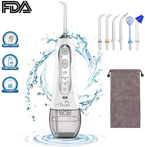 BESTOPE Water Flosser Professional Cordless Oral Irrigator with 300ml  Reservoir and 6 Jet Nozzles 3 Water Pressure IPX7 Waterproof USB  Rechargeable Dental Floss: Amazon.co.uk: Health & Personal Care