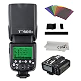 Godox TT685O 2.4G TTL HSS 1/8000s Flash Speedlite with X1T-O Transmitter, Filter Gel Kits for Olympus E-M10II, E-PL5, E-PL6, E-PL7, E-PL8, Pen-F Digital Camera