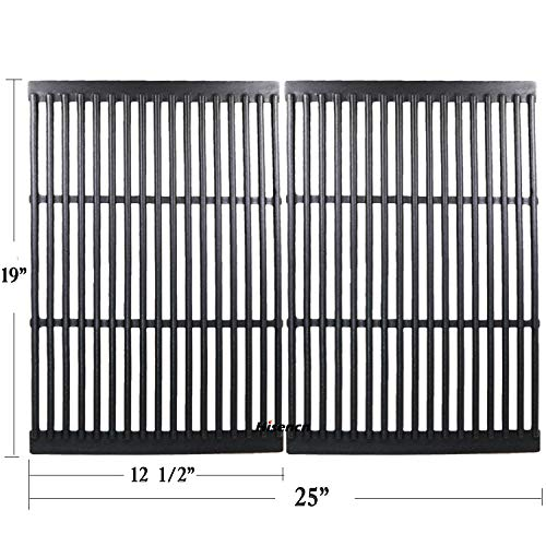 - Hisencn Replacement Cast Iron Cooking Grid Porcelain Coated Set of 2 for Gas Grill Models by CharBroil, Brinkmann, Charmglow, Broil-Mate, Grill Pro, Grill Zone, Sterling, Turbo, Grill Chef and Others