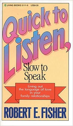 Amazon com: Quick to Listen, Slow to Speak (9780842351119