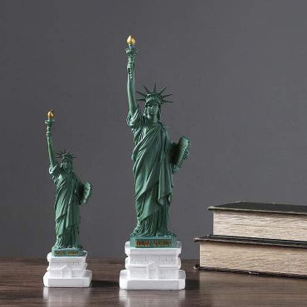 VOSAREA Statue de La Libert/é Figurine Sculpture R/ésine Ornements D/éesse Libert/é Statue Bureau Collection Souvenirs D/écoration de La Maison Un Motif