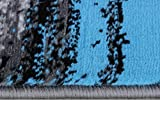 Masada Rugs, Modern Contemporary Area Rug, Blue