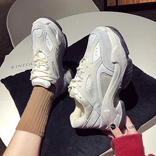 Corsa Spesso yanjing Dimensione Un Sneakers He 2018 Scarpe Moda Primavera colore Faux Suede autunno Fondo Traspirante Un Da Donna Esterno 39 PRqxqwOUd