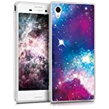 kwmobile Crystal Case Cover for Sony Xperia M4 Aqua TPU silicone IMD design protective case - soft mobile cover Design space
