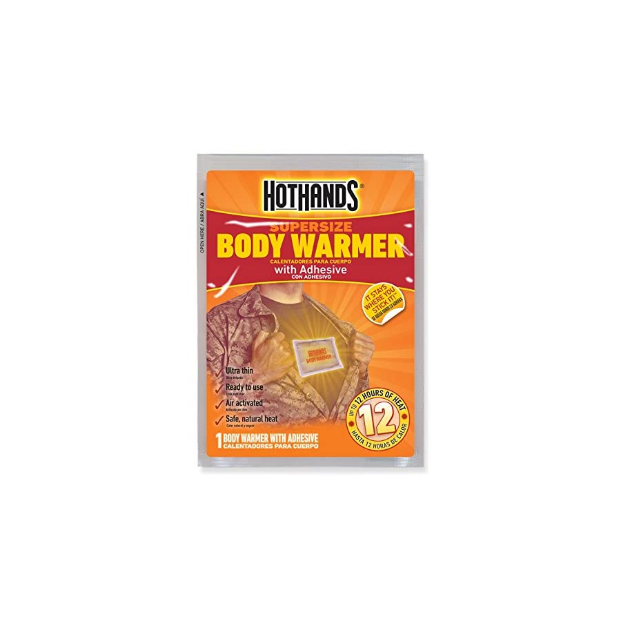 HotHands Body Warmers With Adhesive Long Lasting Safe Natural Odorless Air Activated Warmers Up to 12 Hours of Heat 40 Individual Warmers