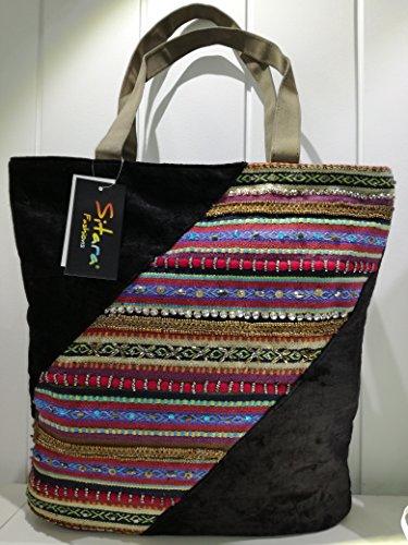 Sitara, Borsa a spalla donna Multicolore varios colores