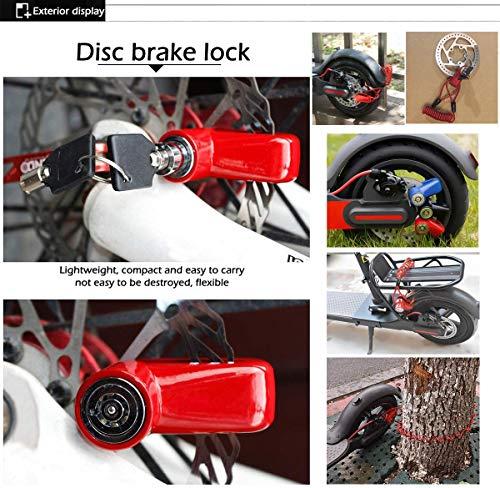 Blocco freno a disco per scooter elettrico antifurto in acciaio con serratura a disco per ruota freno a disco per Xiaomi M365/PRO Scooter elettrico accessori ruote armadietto con corda promemoria 5 spesavip