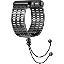 fastgo 2018 for Apple Watch Band 38mm, Pretty Fancy Fashionable Iwatch Bangle Watchbands Feminine Women Girly for Series 3/2/1 Sport, Hermes, Nike+, Edition in Black Color (Black-38mm)