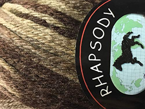Dark Horse Yarns Rhapsody #163 Variegated Browns 100% Merino Wool Yarn 100 Gram
