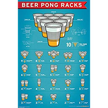 Amazon Com Nmr 88845 Beer Pong Rules Decorative Poster
