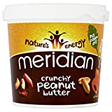 Meridian Foods Crunchy Peanut Butter No Added Sugar & No Added Salt (1Kg) - Pack of 6