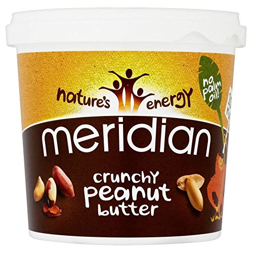 Meridian Foods Crunchy Peanut Butter No Added Sugar & No Added Salt (1Kg) - Pack of 6 by Meridian Foods