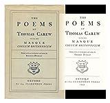 Poems of Thomas Carew, Carew, Thomas, 019811804X