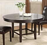 Modus Furniture 2Y2161R Bossa Round Dining Table, 54-Inch, Dark Chocolate