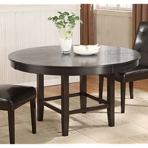 Inch Round Dining Tables Amazoncom - 54 inch round table with leaf