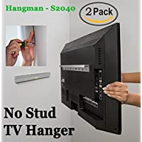 2 Pack Kit | Hangman Products - No Stud TV Hanger | Mount TVs up to 55-Inch (S2040A)