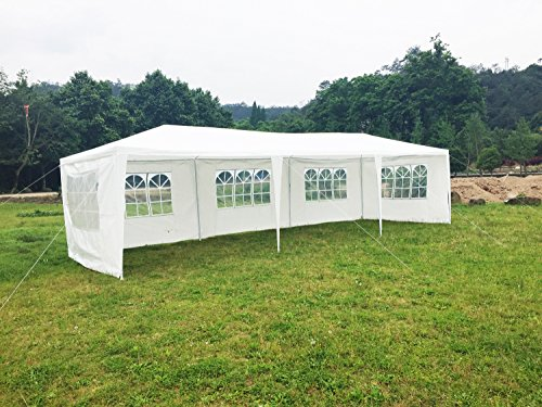 (Hynawin Outdoor Canopy Tent Gazebo Tent Waterproof Canopy for Party Camping,White with 6 Windows(10'30'))