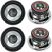 4) New PYRAMID PW677X 1200W 6 Car Audio Subs/Subwoofers Power Woofers Stereo