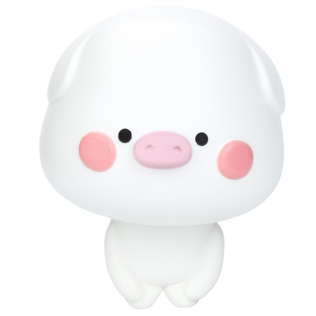 Mini Squishy Toy, Naladoo 1PC Cute White Pig Doll Slow Rising Scented Fun Animal Decompression Toys Squeeze Toy IU32566436436