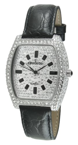 Peugeot Women's J1246BK Couture Swarovski Crystal Evening Watch