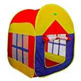 LEOSO Foldable Pop Up Play Tent with 2 Doors and 2 Mesh Windows Cottage Play House Beach Shelter Garden Grassland Tent