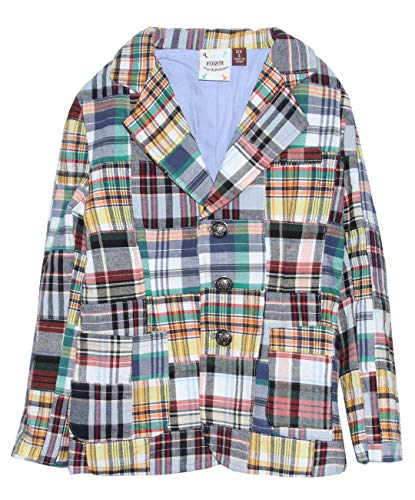 Fore!! Axel & Hudson Boy Suit Madras Blazer (6)