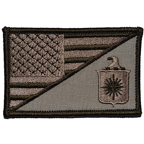 CIA USA Flag - 2.25x3.5 Morale Patch - Desert Sand