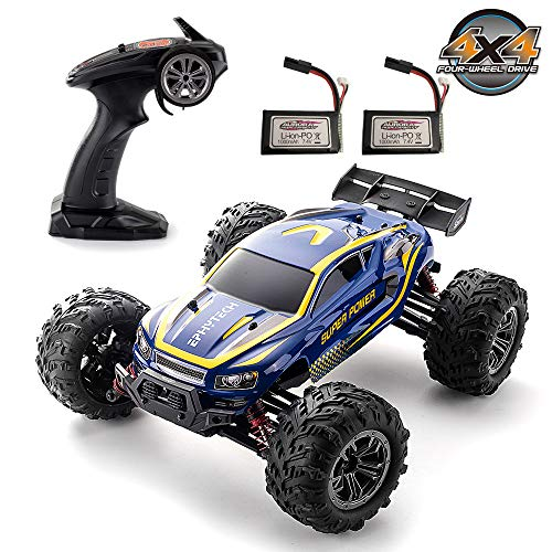 EPHYTECH 1/16 Remote Control Trucks 40km/h Fest 4X4 Off Road RC Waterproof Cars for Kids and Adults