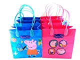 Peppa Pig Party Favor Goody Tote Candy Bag Great Child Birthday Gift - 12 Piece